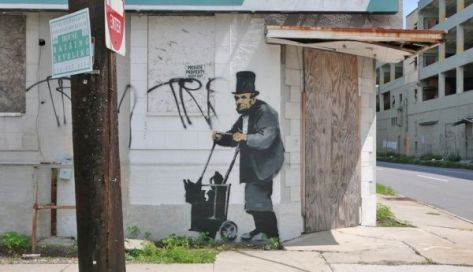 Banksy in New Orleans post-Katrina