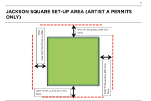 "This is the artist ""A"" zone for setting up along the fence."