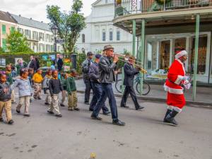Holiday parade in French Quarter 2014, captured by Roy Guste