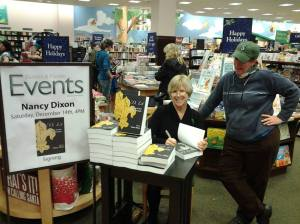 Author Nancy Dixon and me at one of her first public book signings for N.O. Lit: 200 years of New Orleans Literature