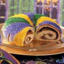 I prefer the brioche with cinnamon version of king cake, but there are literally dozens of varieties available now.