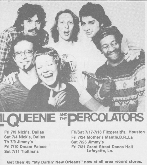 Little Queenie and the Percolators (Circa 1980s0