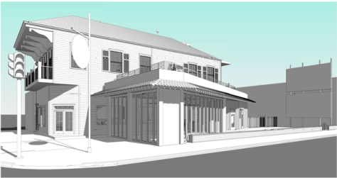plans for cafe Habana submitted August 2014, after the original proposal was denied based on neighbor objections to the size of the restaurant.