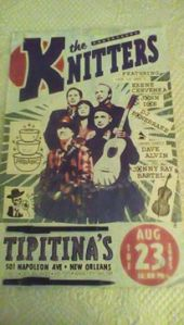 The poster I saved from the August 2015 show of some of the X  members country rockabilly acoustic side band, The Knitters.
