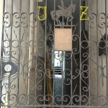 935 Royal. Jacob Zeiher listed as owner circa 1946 in survey. One of my favorite gates in FQ